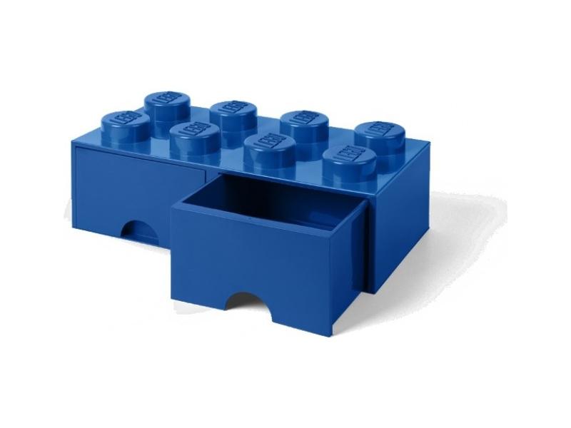 LEGO úložný box s šuplíky 250x500x180mm - modrý