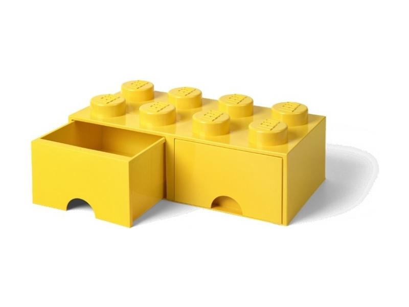 LEGO úložný box s šuplíky 250x500x180mm - žlutý