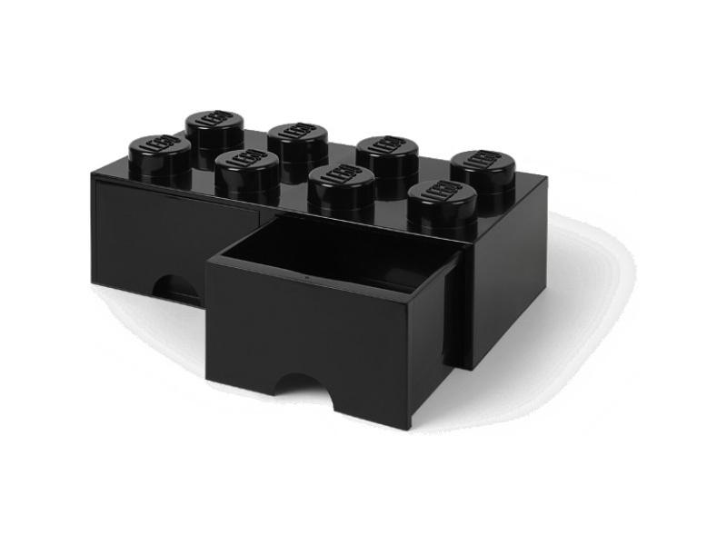 LEGO úložný box s šuplíky 250x500x180mm - černý