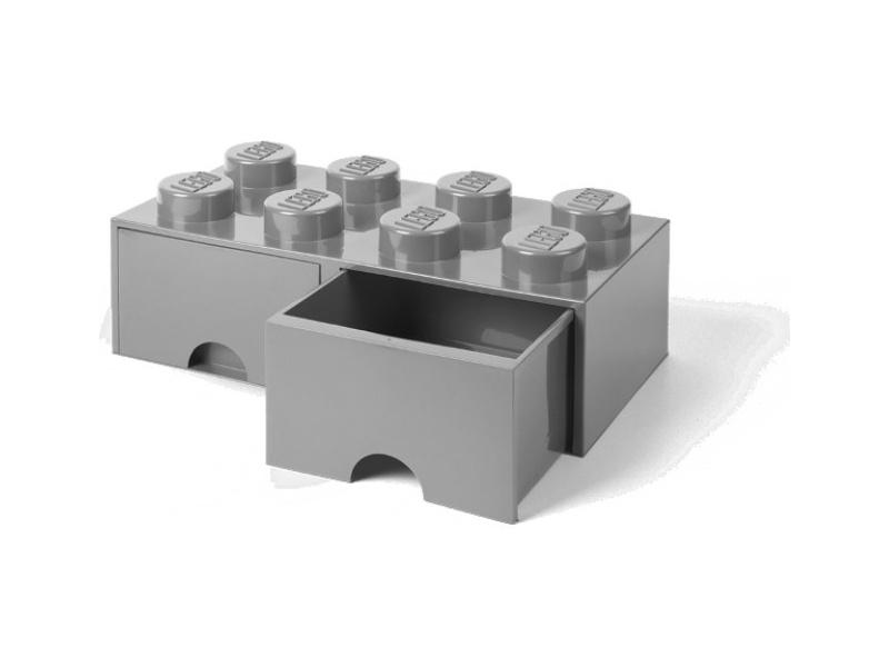 LEGO úložný box s šuplíky 250x500x180mm - šedý