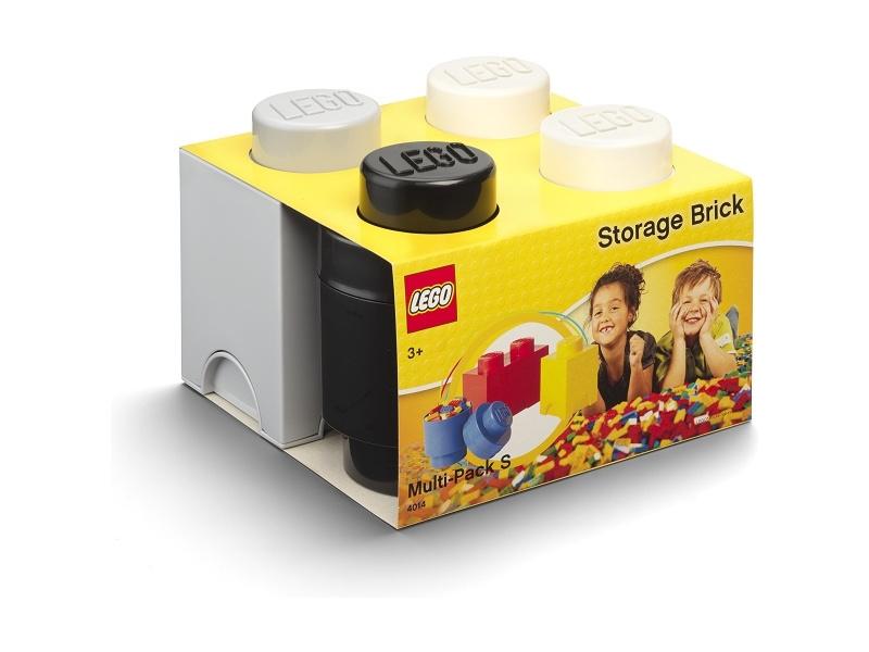 LEGO úložné boxy Multi-Pack černá, bílá, šedá - 3ks
