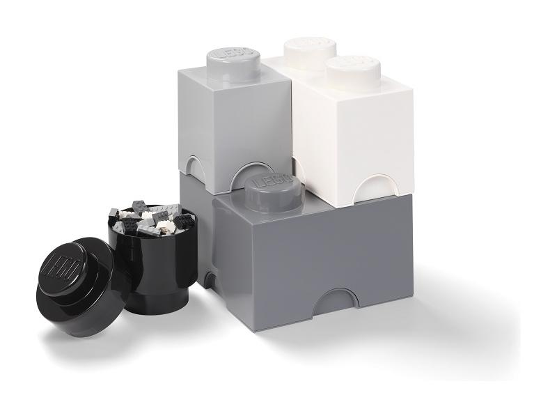 LEGO úložné boxy Multi-Pack černá, bílá, šedá - 4ks