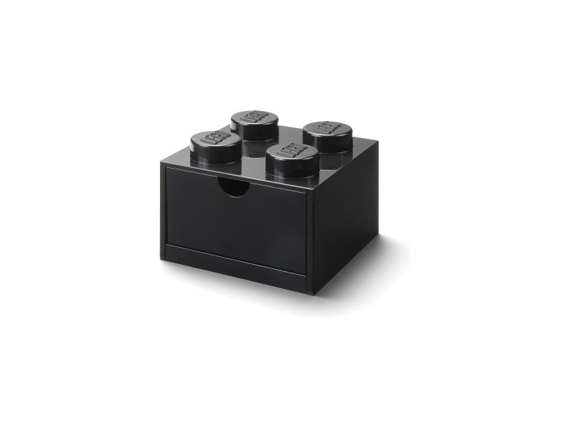 LEGO stolní box 4 se zásuvkou černý