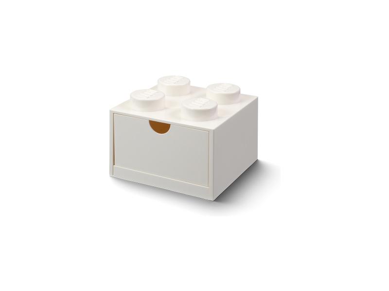 LEGO stolní box 4 se zásuvkou bílý