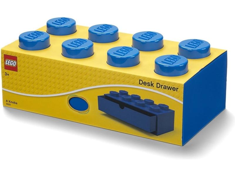 LEGO stolní box 8 se zásuvkou modrý