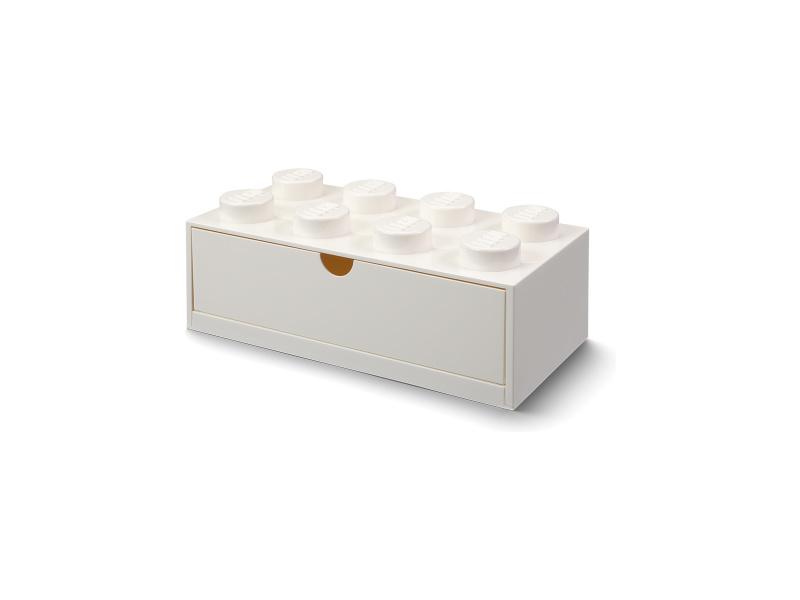 LEGO stolní box 8 se zásuvkou bílý