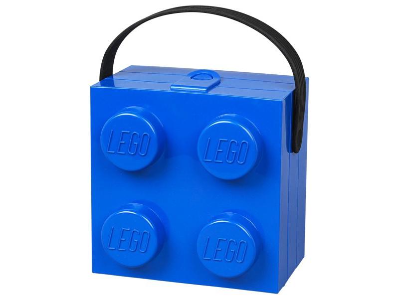 LEGO box s rukojetí 166x165x117mm - modrý