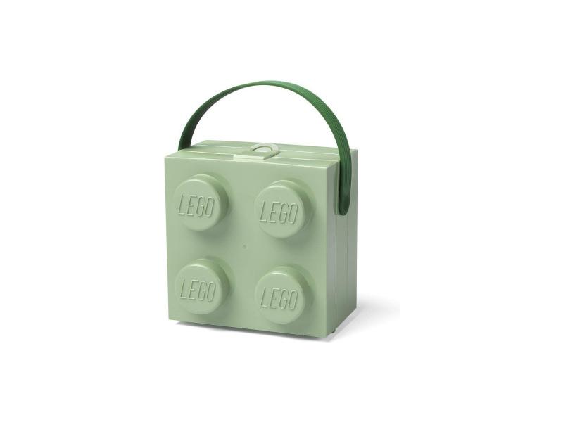 LEGO box s rukojetí 166x165x117mm - zelená army