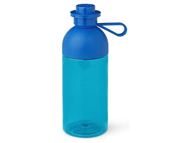 LEGO láhev na pití 0.5L - transparentní modrá