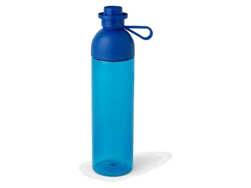 LEGO láhev na pití 0.74L - transparentní modrá