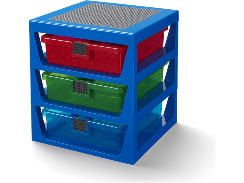 LEGO organizér se třemi zásuvkami - modrá