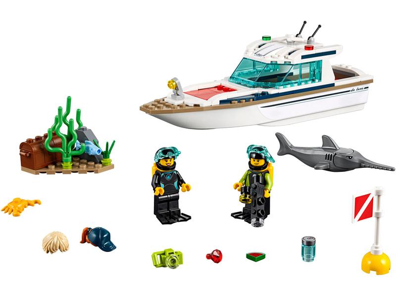 LEGO City - Potápěčská jachta