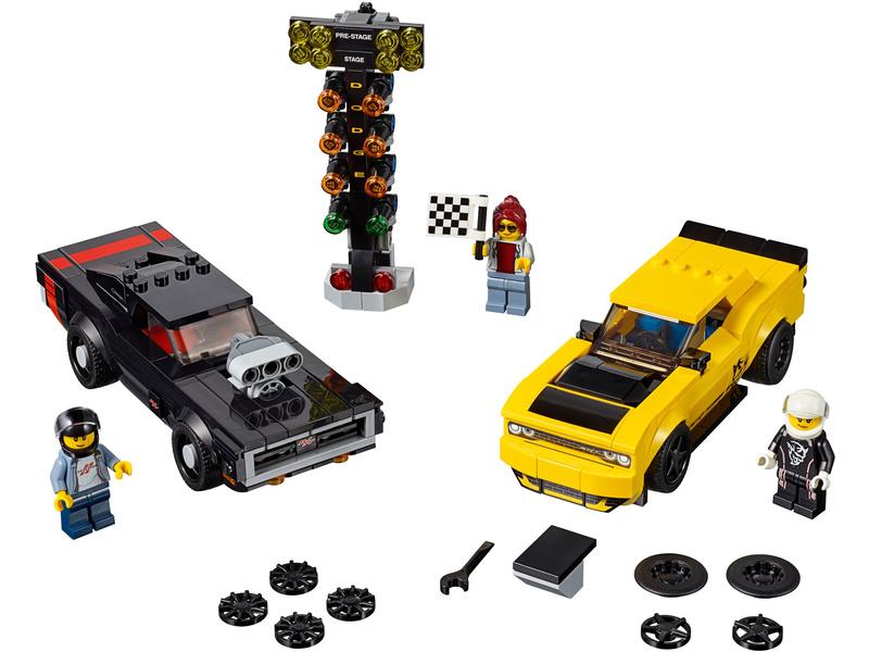 LEGO Speed Champions - 2018 Dodge Challenger SRT Demon a 1970 Dodge Charger R/T