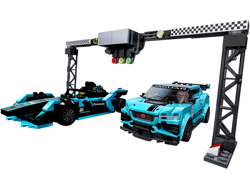 LEGO Speed Champions - Formula E Panasonic Jaguar Racing GEN2 car & Jaguar I-PACE eTROPHY