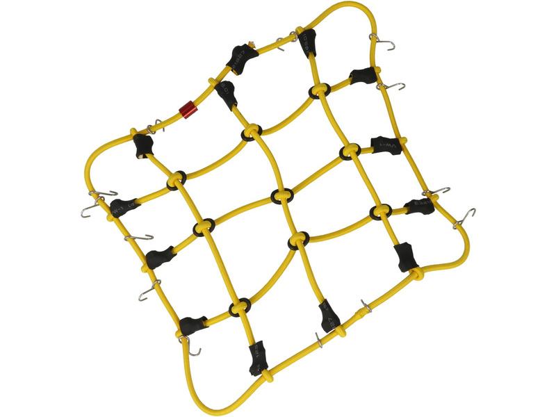 Robitronic poutací síť z háčky 15x12cm žlutá
