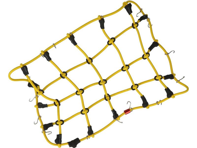 Robitronic poutací síť s háčky 19x12cm žlutá