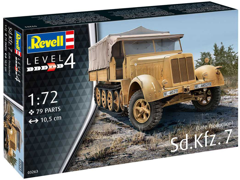 Revell Sd.Kfz. 7 (pozdní produkce) (1:72)