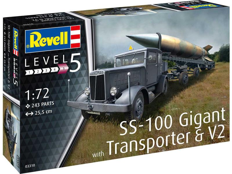 Revell SS-100 Gigant + Transporter + V2 (1:72)