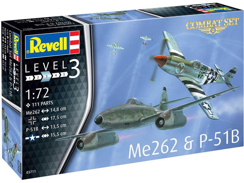 Revell Messerschmitt Me 262, P-51B Mustang(1:72)