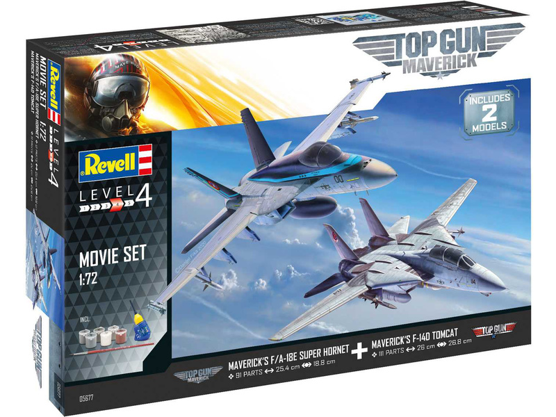 Revell Top Gun 2 Movie Set (1:72) (giftset)