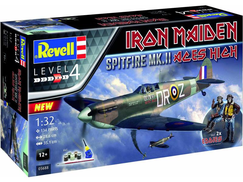 RevellSpitfire Mk.II Aces High Iron Maiden (1:32) (giftset)
