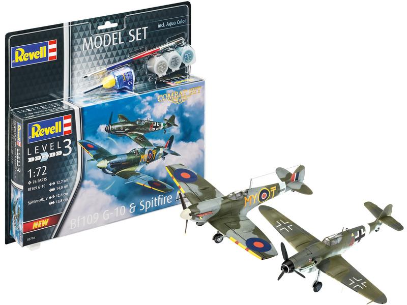 Revell Messerschmitt Bf109G-10, Spitfire Mk.V (1:72) (set)