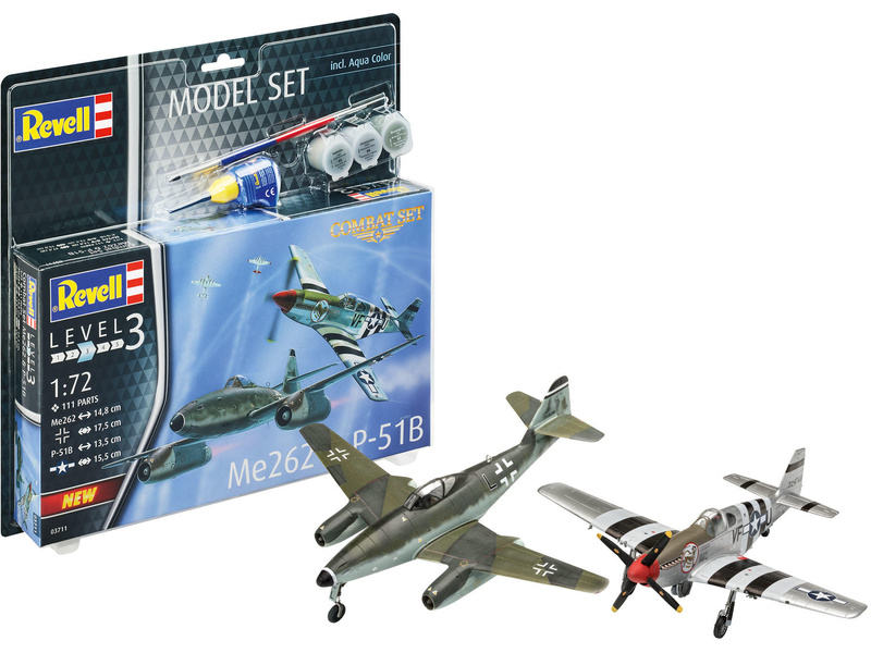 Revell Messerschmitt Me262, North American P-51B (1:72) (sada)