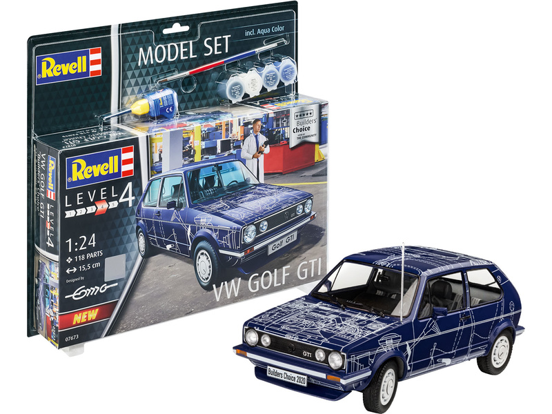 Revell Volkswagen Golf Gti Builders Choice (1:24) (set)