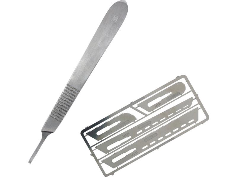 Modelcraft nůž s pilovými čepelemi tl. 0.12mm (sada)