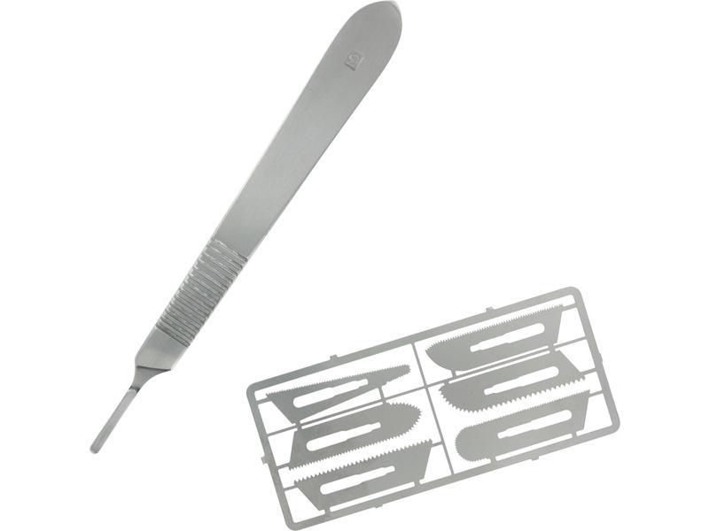 Modelcraft nůž s pilovými čepelemi tl. 0.24mm (sada)