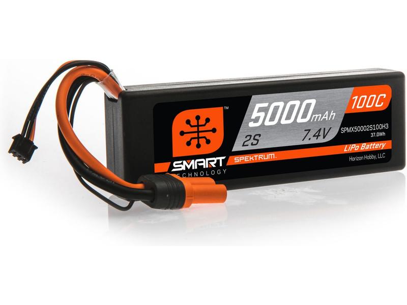 Spektrum Smart LiPo 7.4V 5000mAh 100C HC IC3