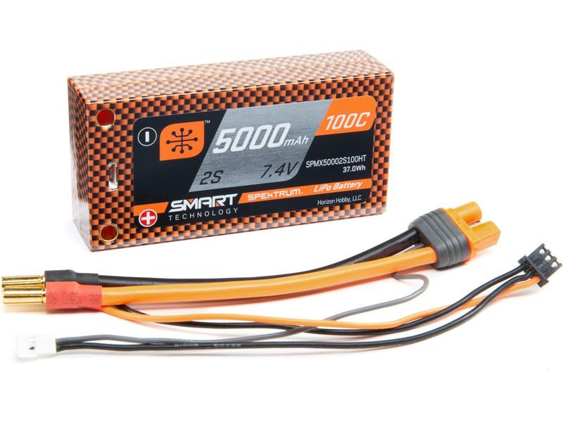 Spektrum Smart LiPo 7.4V 5000mAh 100C Short HC