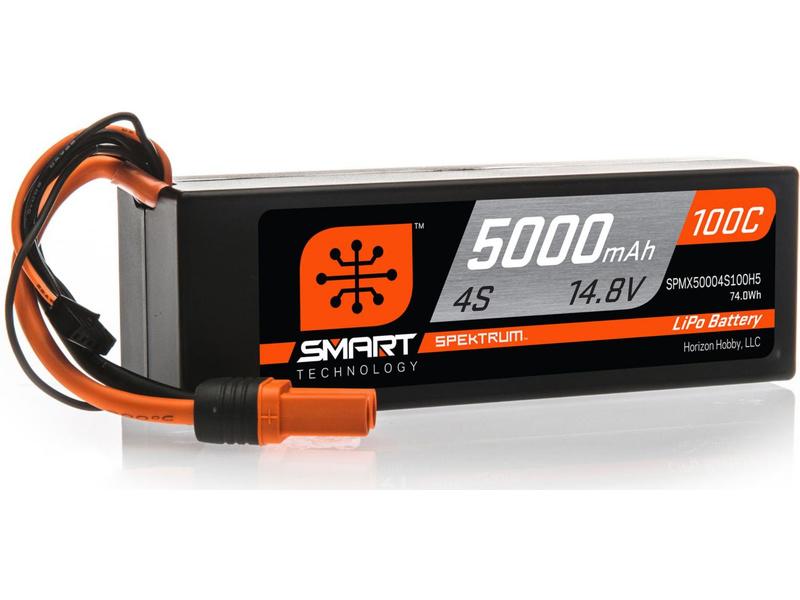Spektrum Smart LiPo 14.8V 5000mAh 100C HC IC5