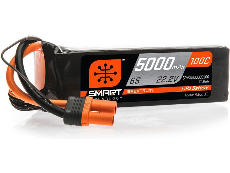 Spektrum Smart LiPo 22.2V 5000mAh 100C IC5
