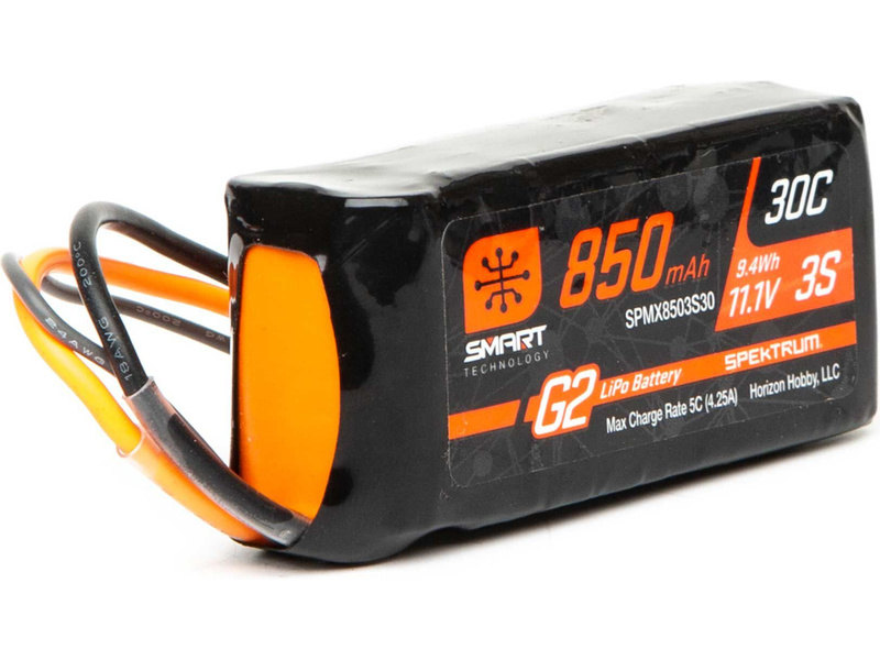 Spektrum Smart G2 LiPo 11.1V 850mAh 30C IC2