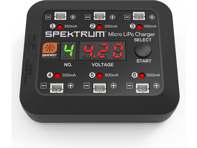 Spektrum Smart nabíječ Micro 6-port DC/USB