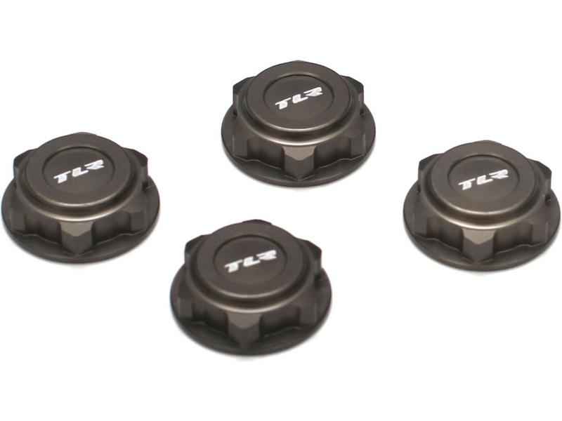 TLR hliníková matice kol 17mm šedá (4)