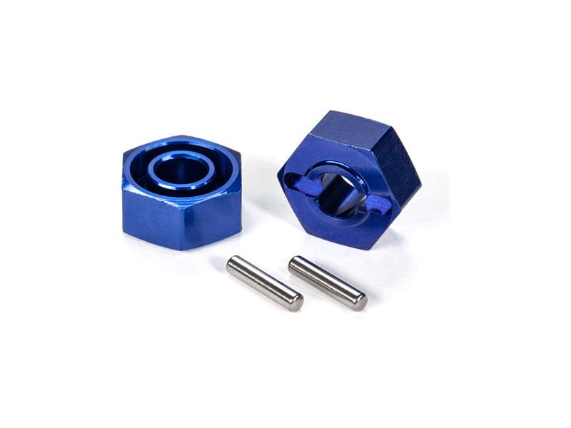 Traxxas náboj kola hliníkový modrý (2), Traxxas 1654X, TRA1654X