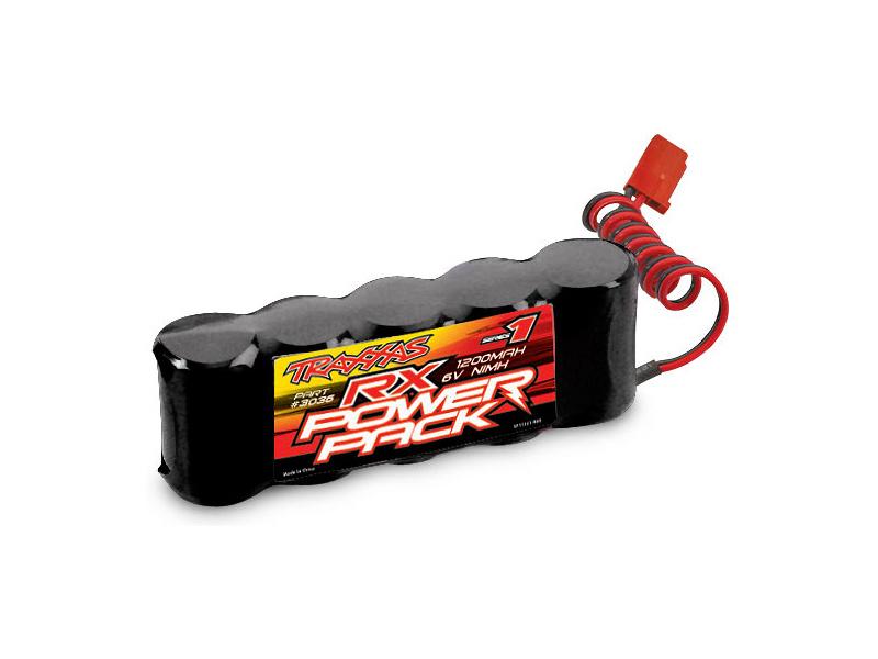 Traxxas NiMH baterie RX 1200mAh 6.0V plochá