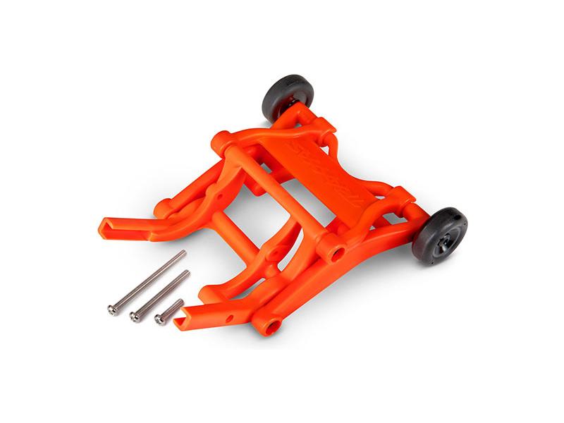Traxxas sada opěrných koleček (wheelie) oranžová, TRA3678T