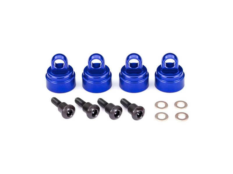 Traxxas hliníková hlava tlumiče modrá (4), Traxxas 3767A, TRA3767A