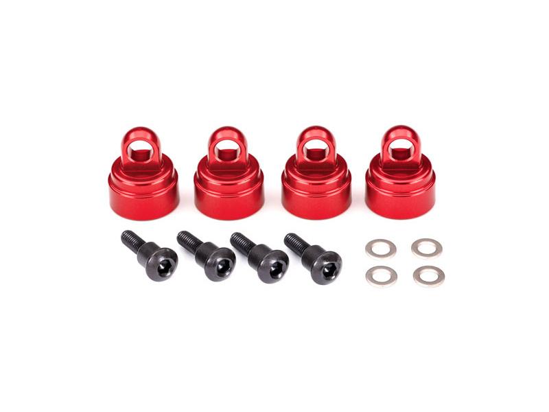 Traxxas hliníková hlava tlumiče červená (4), Traxxas 3767X, TRA3767X