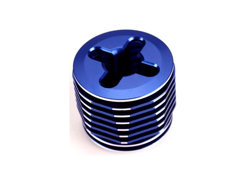 Traxxas chladič hlavy válce modrý: TRX .15, Traxxas 4032, TRA4032
