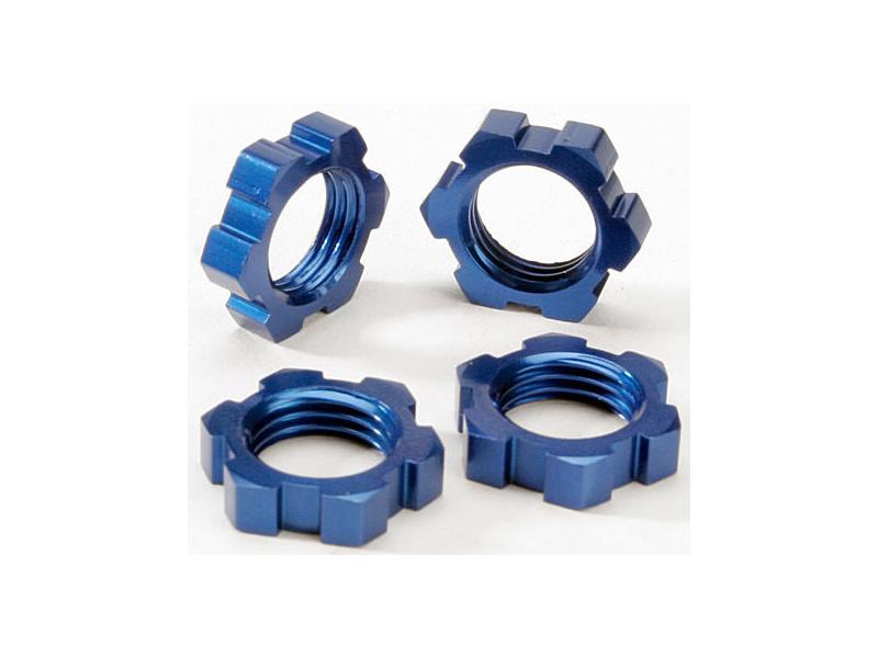 Traxxas matice kol 17mm hliníková modrá (4), TRA5353