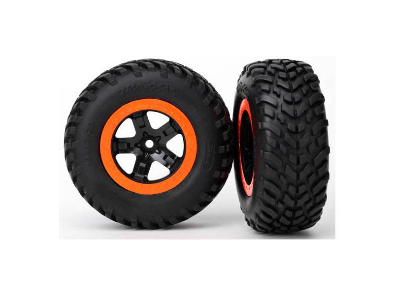 """Traxxas kolo 2.2/3.0"""", disk SCT černo-oranžový, pneu SCT (2), Traxxas 5863, TRA5863"""