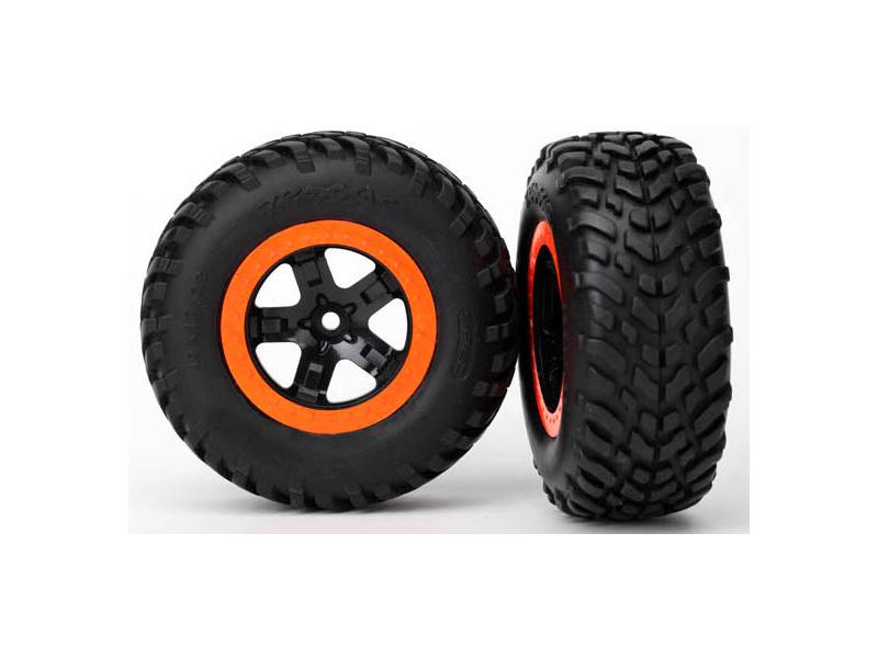 """Traxxas kolo 2.2/3.0"""", disk SCT černo-oranžový, pneu SCT (2) (2WD přední), Traxxas 5864, TRA5864"""