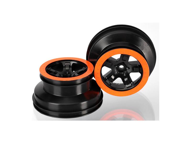 "Traxxas disk 2.2/3.0"" SCT černý-oranžový (2) (2WD přední), Traxxas 5870X, TRA5870X"