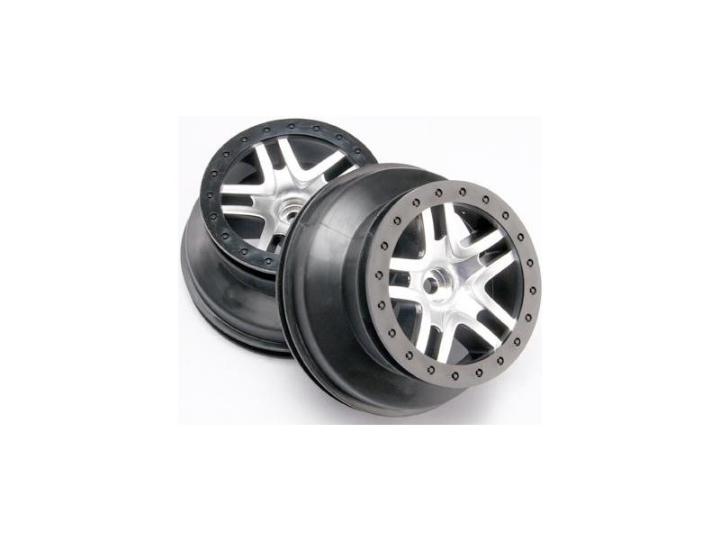 """Traxxas disk 2.2/3.0"""" SCT Split-Spoke saténový-černý (2) (2WD přední), Traxxas 5876, TRA5876"""