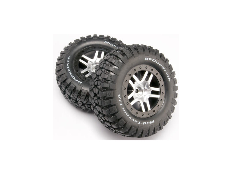 """Traxxas kolo 2.2/3.0"""", disk SCT Split-Spoke saténový-černý, pneu KM2 (2) (2WD přední), Traxxas 5877, TRA5877"""