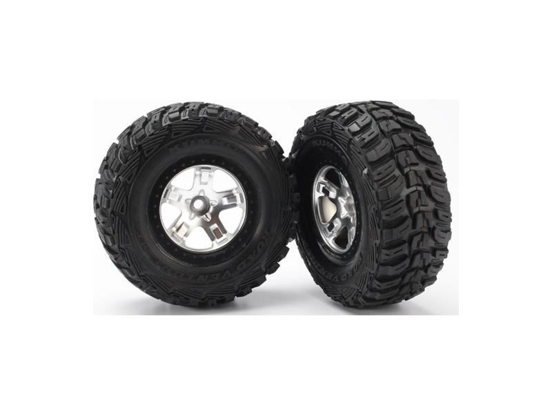 "Traxxas kolo 2.2/3.0"", disk SCT saténový-černý, pneu Kumho (2) (2WD přední), Traxxas 5881, TRA5881"